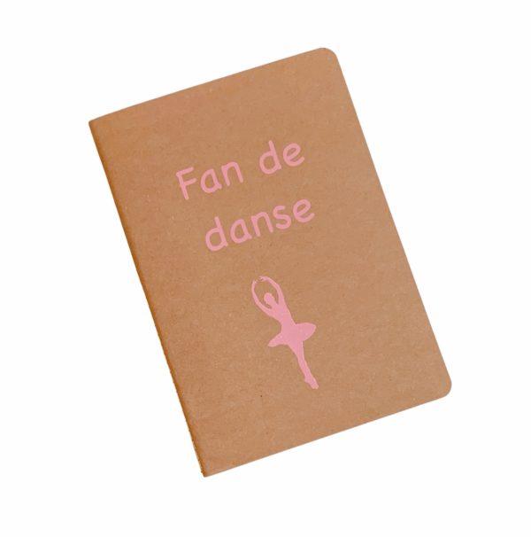 Cahier personnalisé fan de danse