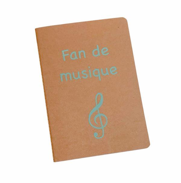 cahier personnalisé fan de musique