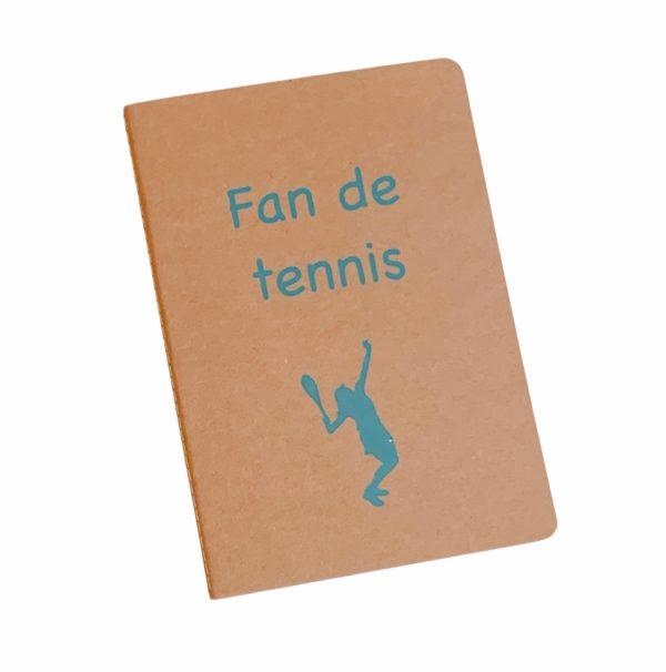 cahier personnalisé fan de tennis