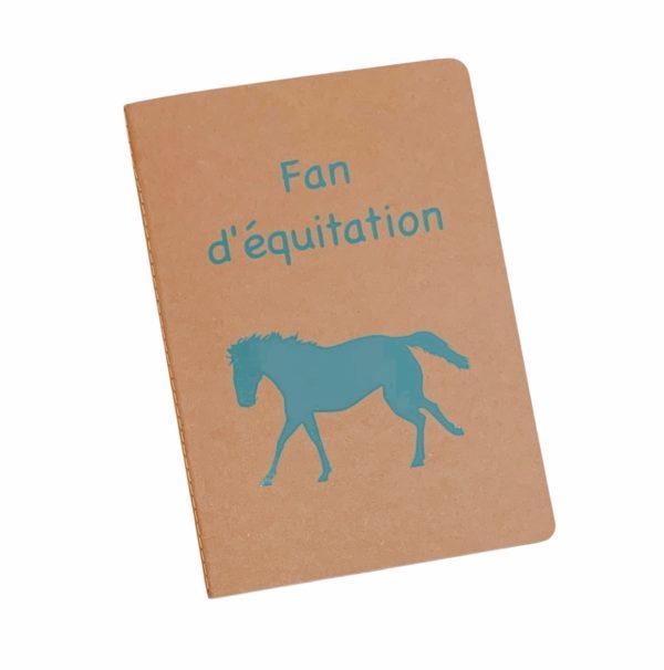 cahier personnalisé fan d'équitation